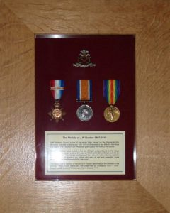 Sgt Buxton Medals